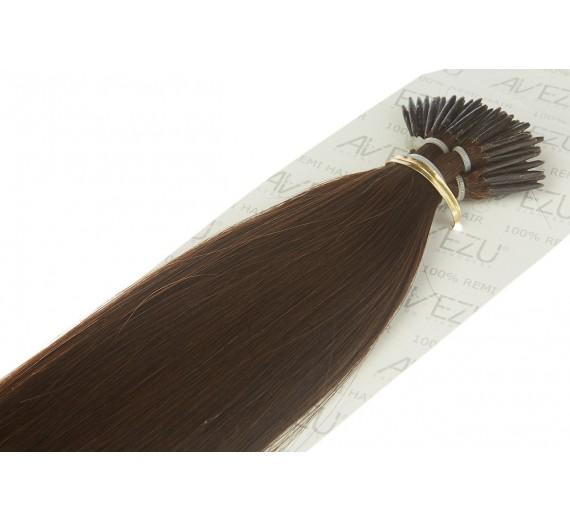 2# Brown Stick Hair extensions - Äkta Microringar löshår av hög kvalitet från Avezu.se - Hårförlängningar