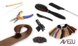 Avezu startpaket - Stick hair äkta Löshår 200 st 1 Gram - Välj färg