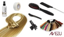 Hair extensions startpakke - Tejp äkta Löshår - 120 gram