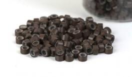 200st - Microringar för äkta Löshår - silikoninsida - Brown