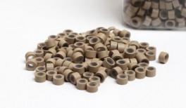 200st - Microringar för äkta Löshår - silikoninsida - Grey
