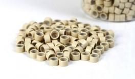 200st - Microringar för äkta Löshår - silikoninsida - Blond