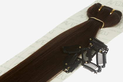 Hair extensions clips